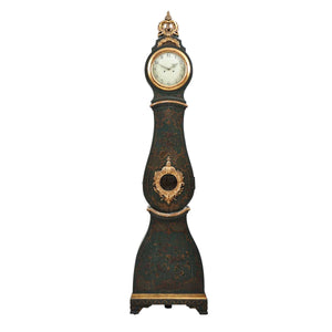 Antique Mora Clock - hand painted detail