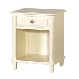 Classic cream painted bedside table