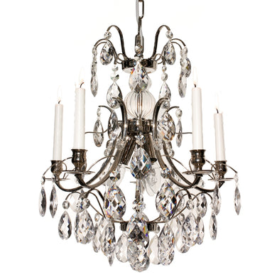 Baroque style chandelier with clear crystals
