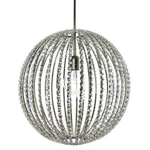 Nickel spherical chandelier