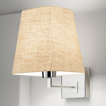 Project polished chrome wall light with shade - detail