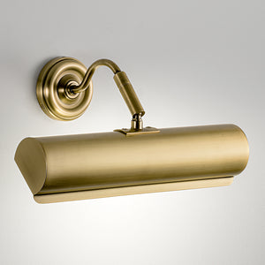 English brass classic picture wall light (30cm) - detail