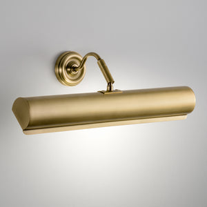English brass classic picture wall light (55cm) - detail