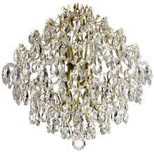 Polished brass and crystal modern style chandelier