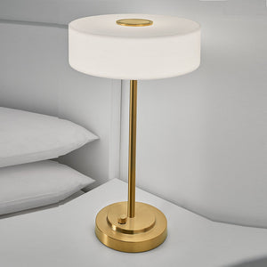 Richmond brushed brass table lamp - detail