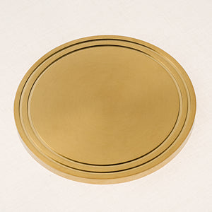 Richmond brushed brass floor light - brass base