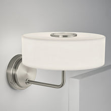 Richmond brushed nickel wall light - detail