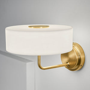 Richmond brushed brass wall light - detail