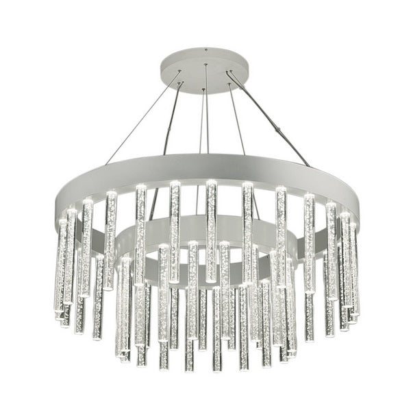 Multiple glass rod pendant light