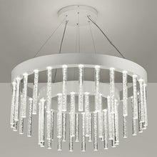 Multiple glass rod pendant light - detail