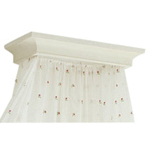 Rococo Style Wooden Corona for Bed with fabric