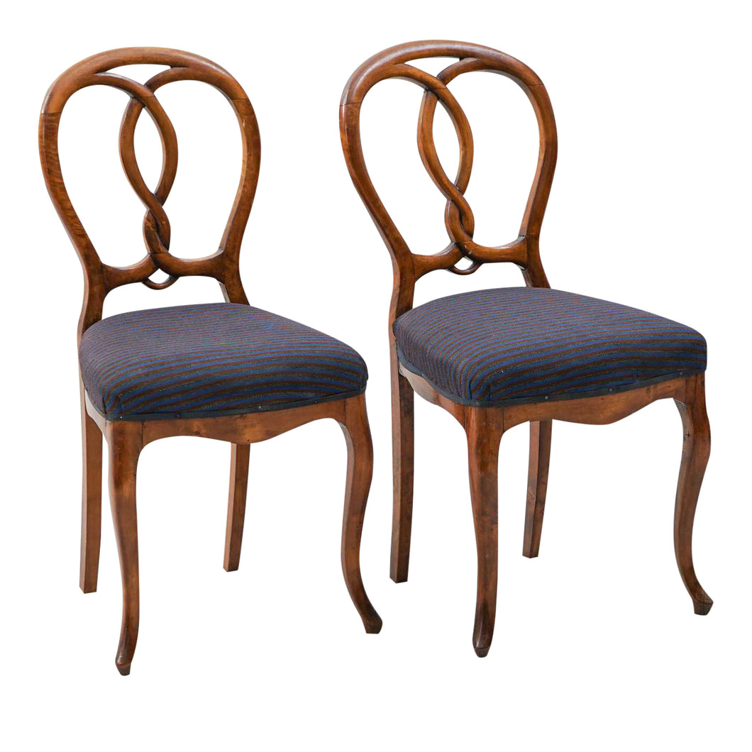 1900s Vintage Rococo Chairs- A Pair