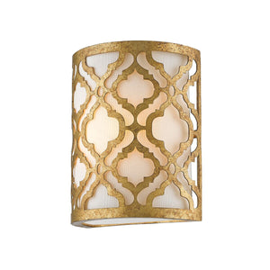 Artisan distressed gold wall light - detail