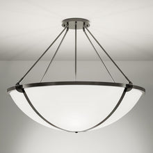 Steel grey pendant light: Height 152cm - detail