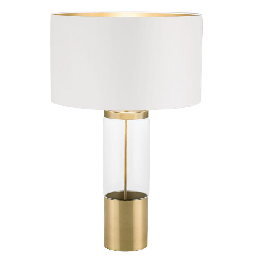 Stockholm Solid Brass Lamp With Glass