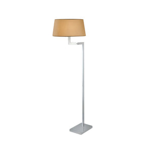Polished chrome floor lamp