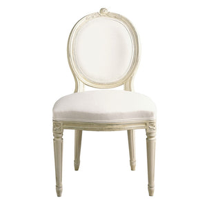 Single Rose Wooden Upholstered Chair