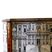 (109) Antique Fornasetti Chest with Marble Top (DaVinci)