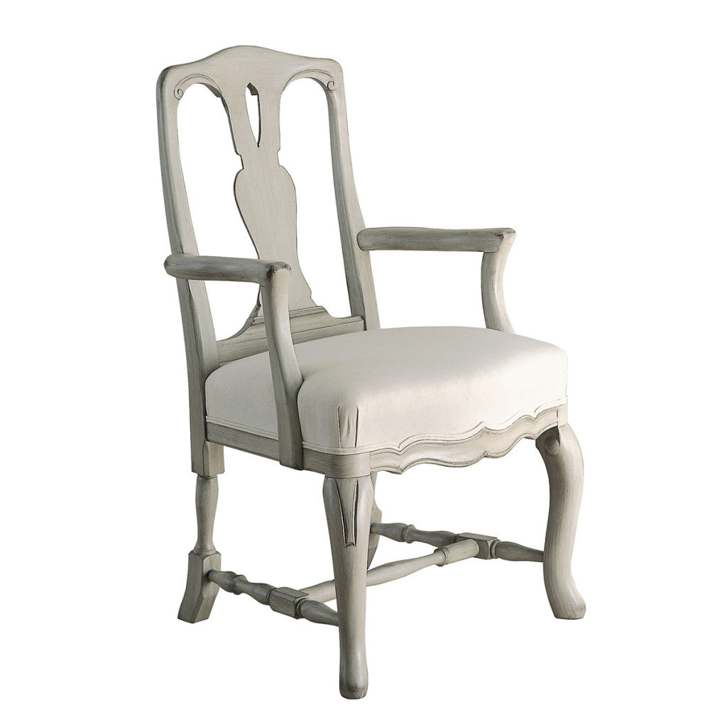 Stockholm Rococo Wooden Armchair