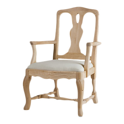 Stockholm Rococo Hand Carved Armchair | Gustavian
