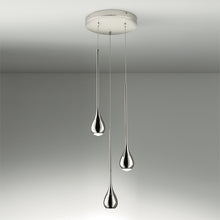 Three teardrop pendant lights - detail