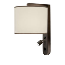 LED penny bronze wall light with shade