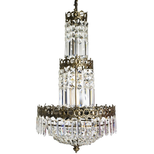 Tapered crystal chandelier