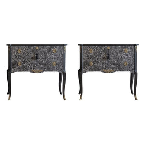 (204-2) Tribeca Commode (A Pair) (DaVinci)