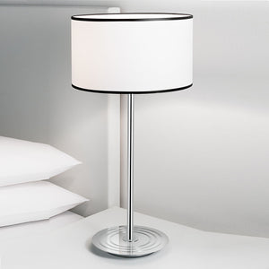 Retro style polished chrome table lamp - detail