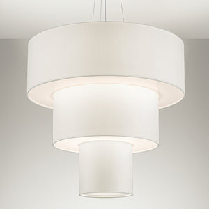 Three tier brushed nickel pendant light  - detail