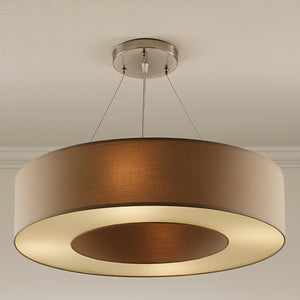 Golden brass coloured pendant light - detail