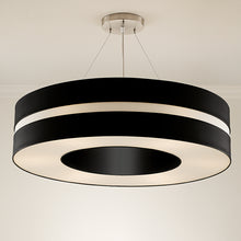 Matt black and brushed nickel pendant light - detail