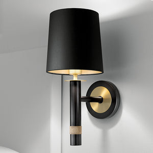 Washington black bronze wall lamp - detail