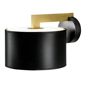 Deco black bronze with English brass wall lamp with shade
