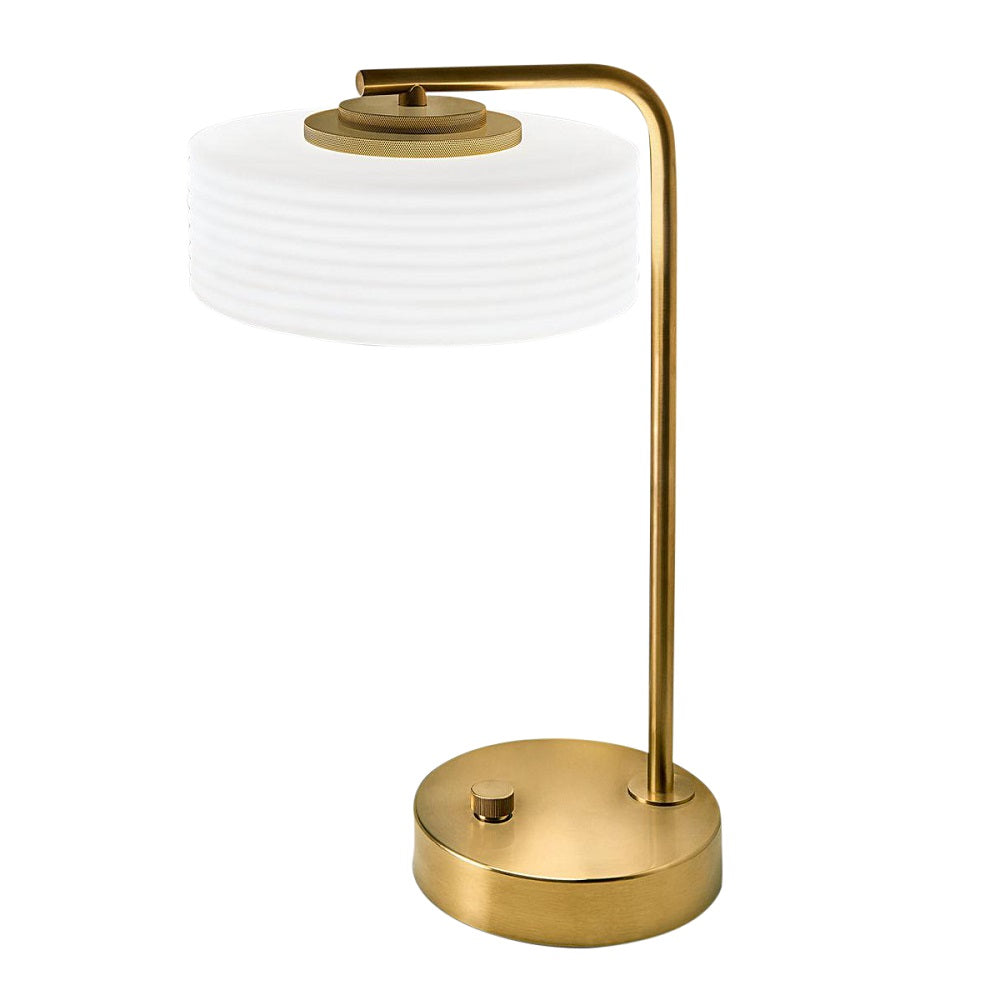 Capri brushed brass table lamp