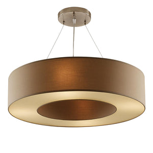Golden brass coloured pendant light