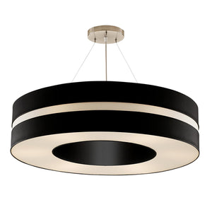 Matt black and brushed nickel pendant light