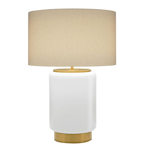 Milk coloured  lamp with shade