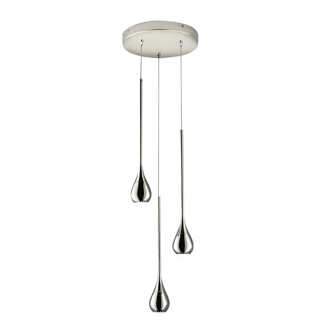 Three teardrop pendant lights