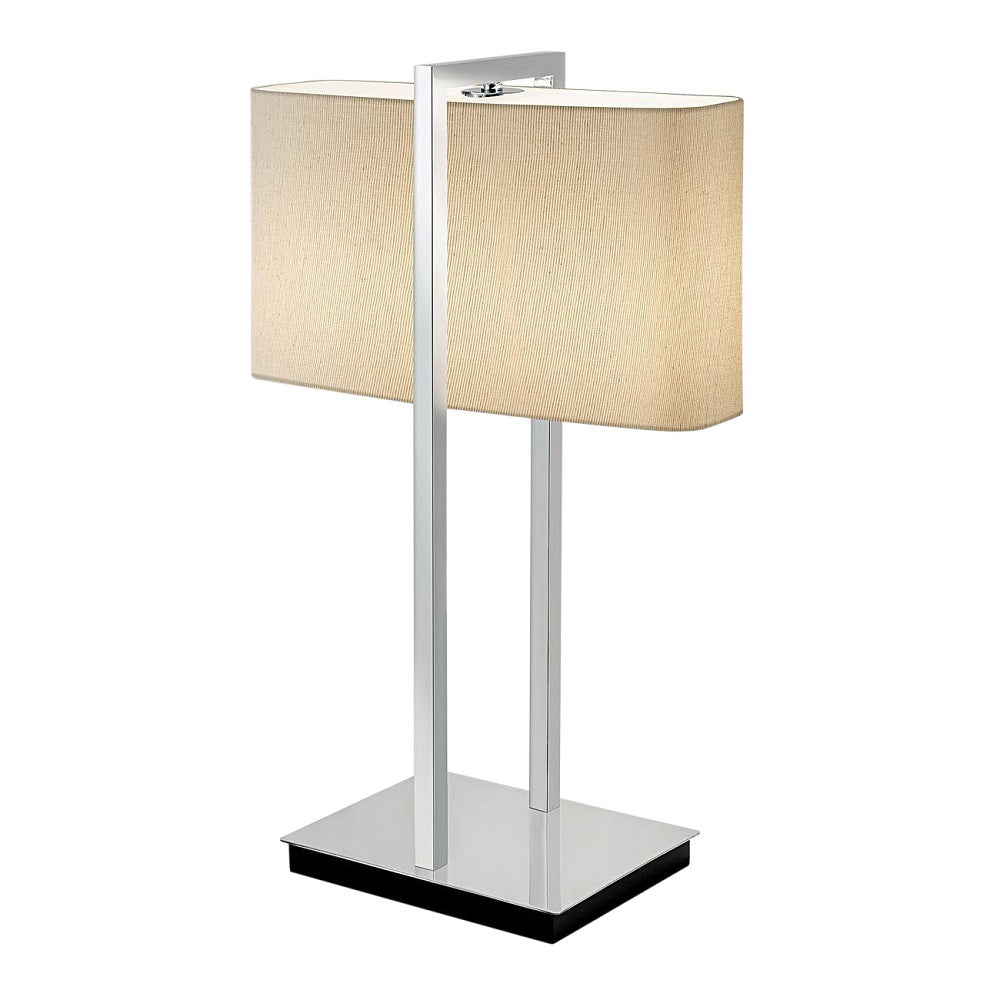 Polished chrome with black underbase table lamp