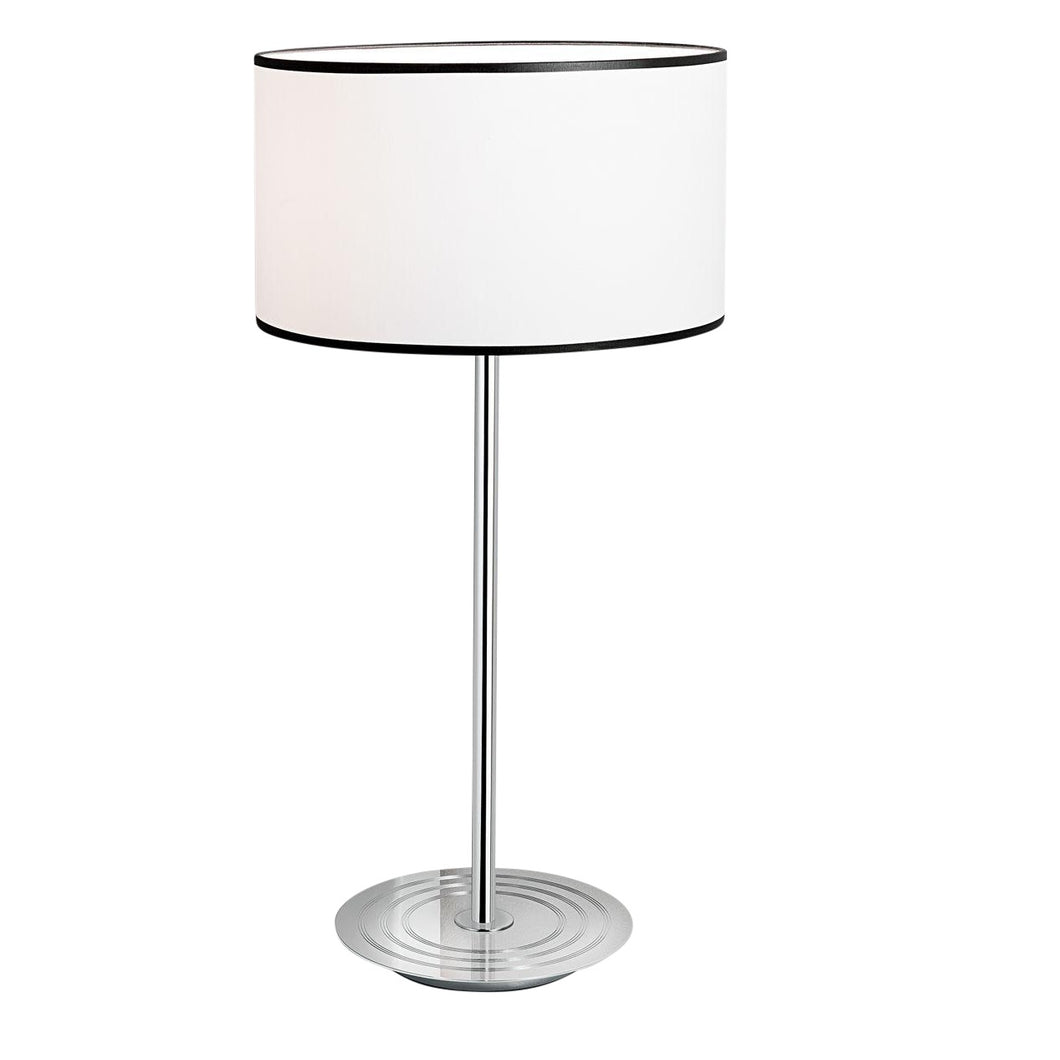 Retro style polished chrome table lamp