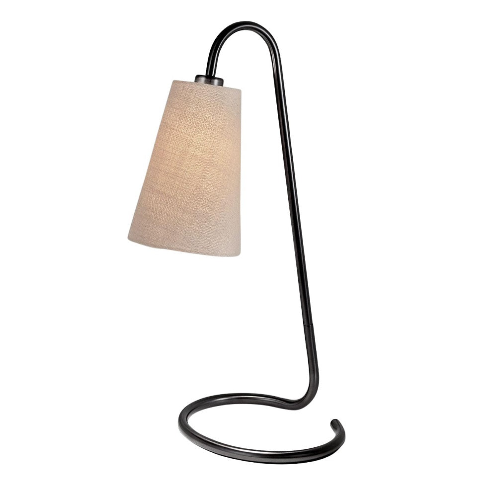 Scroll black bronze table lamp