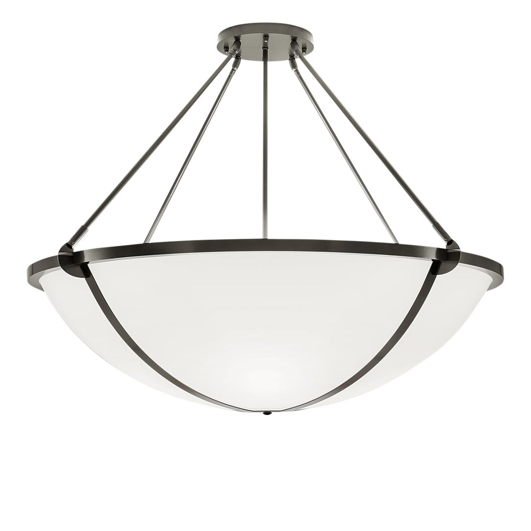 Steel grey pendant light: Height 152cm