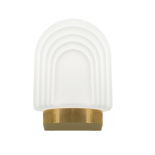 Art Deco style brass bathroom wall light