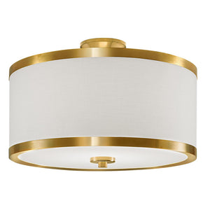 Brushed brass ceiling light