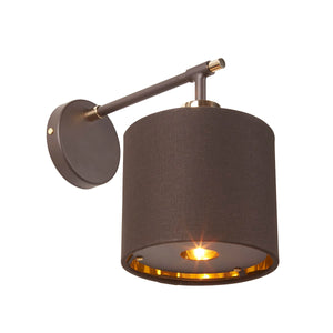 Polished Brass / Mocha Wall Light