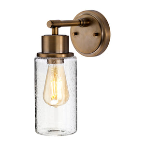 Brushed Brass Bubble Glass Wall Light