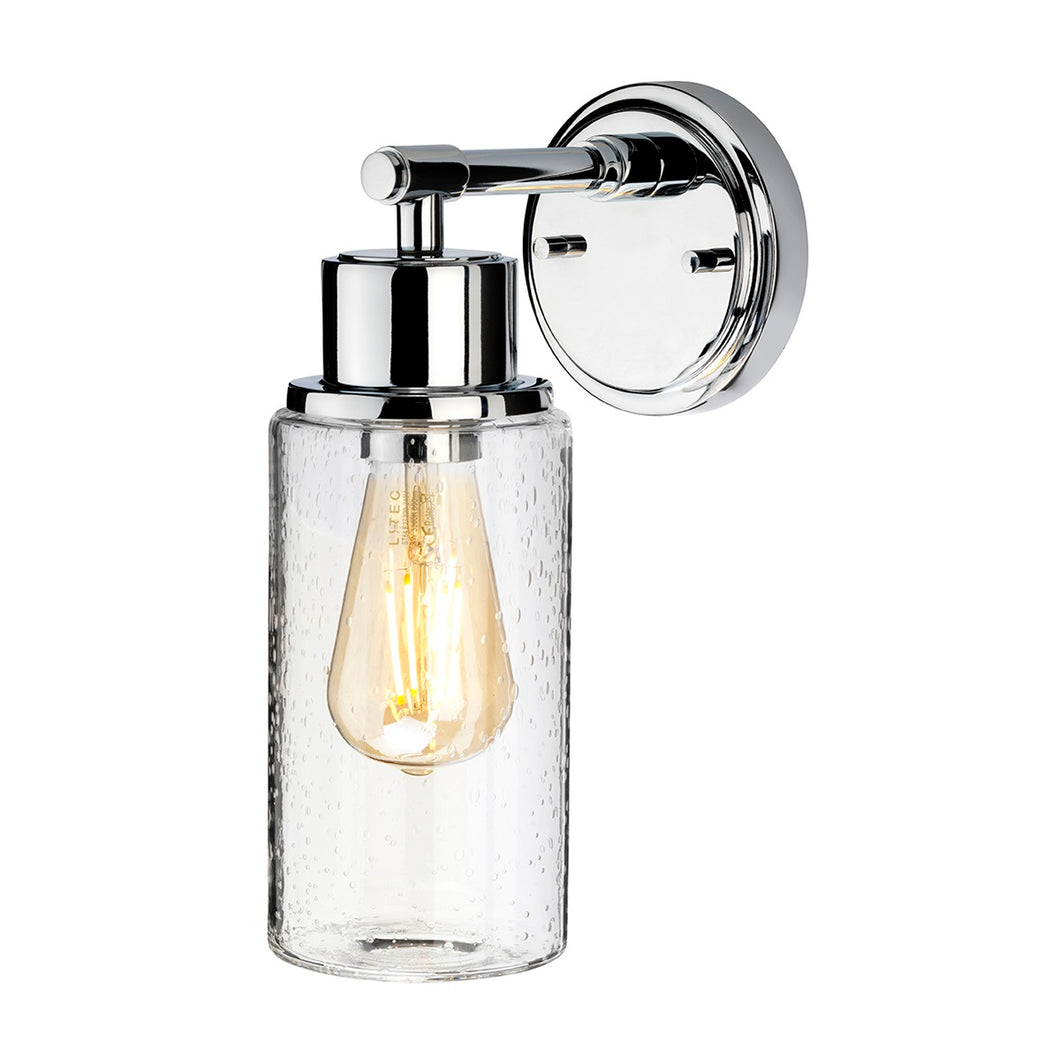 Polished Chrome Bubble Glass Wall Light - detail