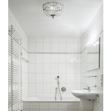 Bathroom Chandeliers - Nickel Bathroom Chandelier - Low Ceilings