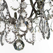 Bathroom Chandeliers - Nickel Bathroom Chandelier With Crystal Balls And Crystal Pendeloques